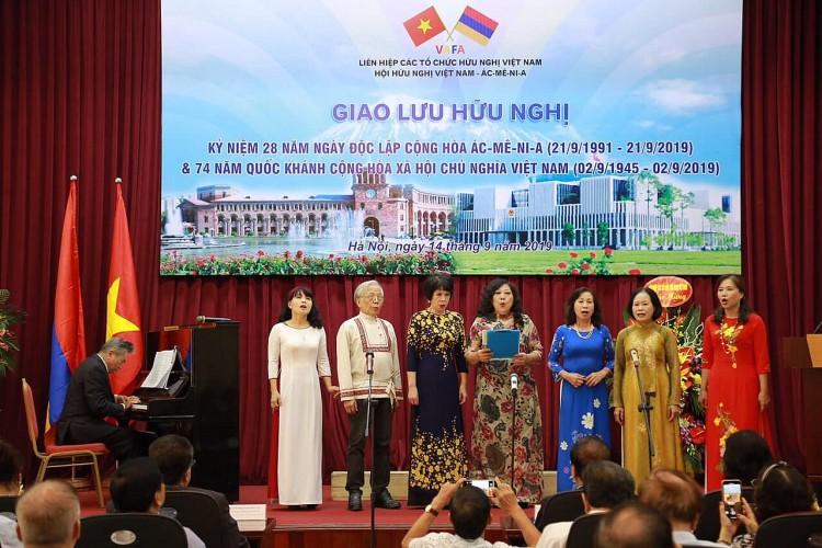 Hình ảnh tại Giao lưu hữu nghị kỷ niệm 28 năm Quốc khánh Ác-mê-ni-a và 74 năm Quốc khánh Việt Nam ngày 14/9/2019. (Ảnh: TV)