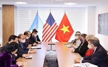 Chủ tịch nước Nguyễn Xuân Phúc tiếp thân mật bạn bè Hoa Kỳ