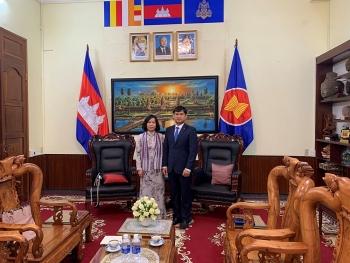 """VUFO văn phòng phía Nam cùng Tổng lãnh sự quán Campuchia thống nhất thúc đẩy chương trình """"Ươm mầm hữu nghị"""""""