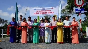 Vĩnh Long khánh thành 2 cây cầu do tổ chức AEA tài trợ