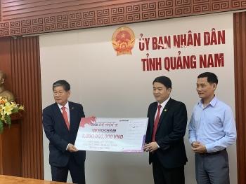 KOCHAM hỗ trợ Quảng Nam, Quảng Bình 2,2 tỷ đồng khắc phục hậu quả thiên tai