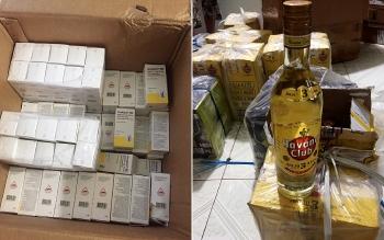 An Giang: Bắt giữ nhiều thùng thuốc tây và rượu ngoại không rõ nguồn gốc