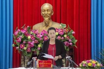 Chủ tịch Quốc hội làm việc tại An Giang: Cần tạo thuận lợi cho dân làm ăn xa về địa phương tham gia bỏ phiếu