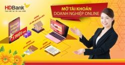 hdbank tien phong trien khai mo tai khoan doanh nghiep online