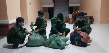 Biên phòng An Giang mật phục, thu giữ 20 kg nghi là cần sa tại khu vực giáp biên