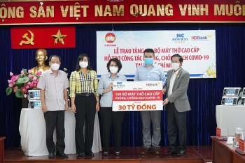 Tập đoàn Sovico và HDBank tặng 100 máy thở hiện đại cho TP. Hồ Chí Minh