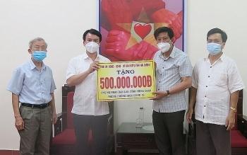 Hải Dương trao tặng 500 triệu đồng cho nhân dân Lào chống COVID-19