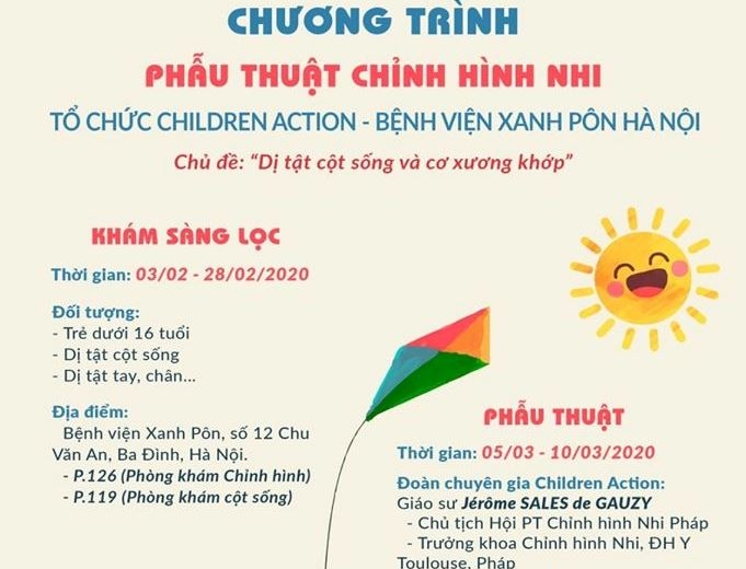 children action kham va phau thuat cho tre bi di tat cot song co xuong khop