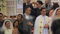 Ảnh hiếm trong hôn lễ bí mật tại nhà thờ của Tóc Tiên và Hoàng Touliver