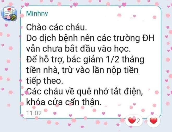 hanh dong dep mua dich chu tro bot tien thue nha nhan khach neu thieu hay lay my tom