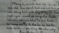 Bức thư cảm động an ủi cậu bé mất mẹ của hai người bạn tiểu học