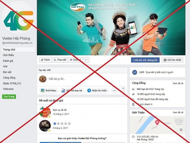 viettel go bo 186 trang mao danh tren facebook de bao ve khach hang