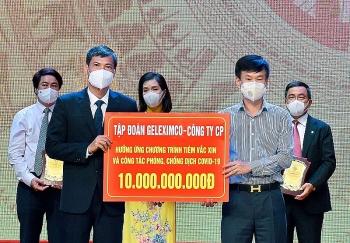 Geleximco và ABBANK trao 20 tỷ đồng cho Quỹ vaccine phòng Covid-19 của TP. Hà Nội