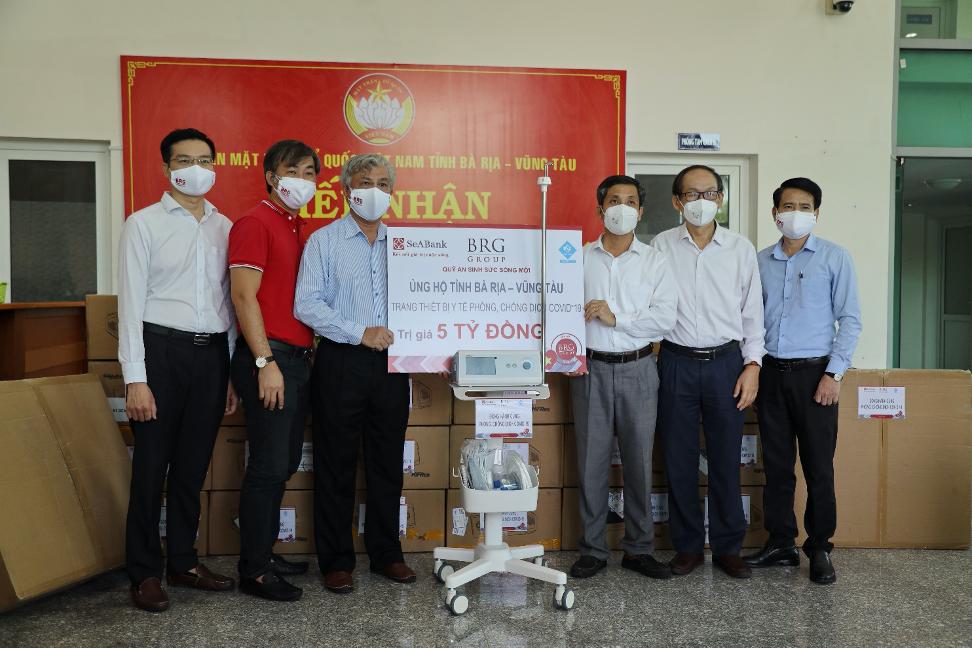 Chung tay hỗ trợ tỉnh Bà Rịa - Vũng Tàu trang thiết bị y tế phòng chống dịch Covid-19 trị giá 5 tỷ đồng