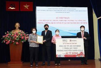 Tập đoàn BRG và SeABank ủng hộ 1 triệu kit test kháng nguyên SARS-COV-2 trị giá 45 tỷ đồng cho TP. Hồ Chí Minh