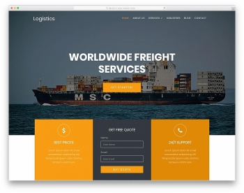 Thiết kế website logistics, vận tải chuyên nghiệp, uy tín