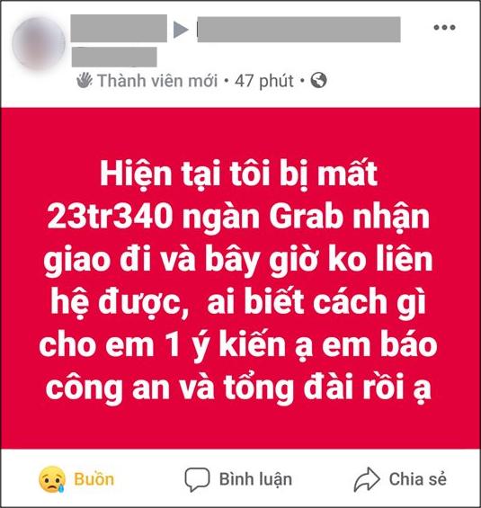 nhan chuyen phat hon 23 trieu dong tai xe grabbike om tien bo tron