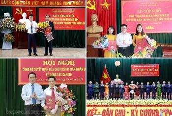 Nghệ An, Hà Tĩnh, Sơn La bổ nhiệm hàng loạt lãnh đạo mới