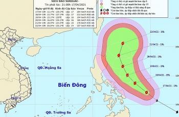 Sẵn sàng ứng phó siêu bão SURIGAE mạnh cấp 17 gần Biển Đông