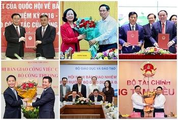 Nhân sự mới bộ, ngành tuần qua: Trưởng Ban Tổ chức Trung ương và 5 Bộ trưởng nhận nhiệm vụ