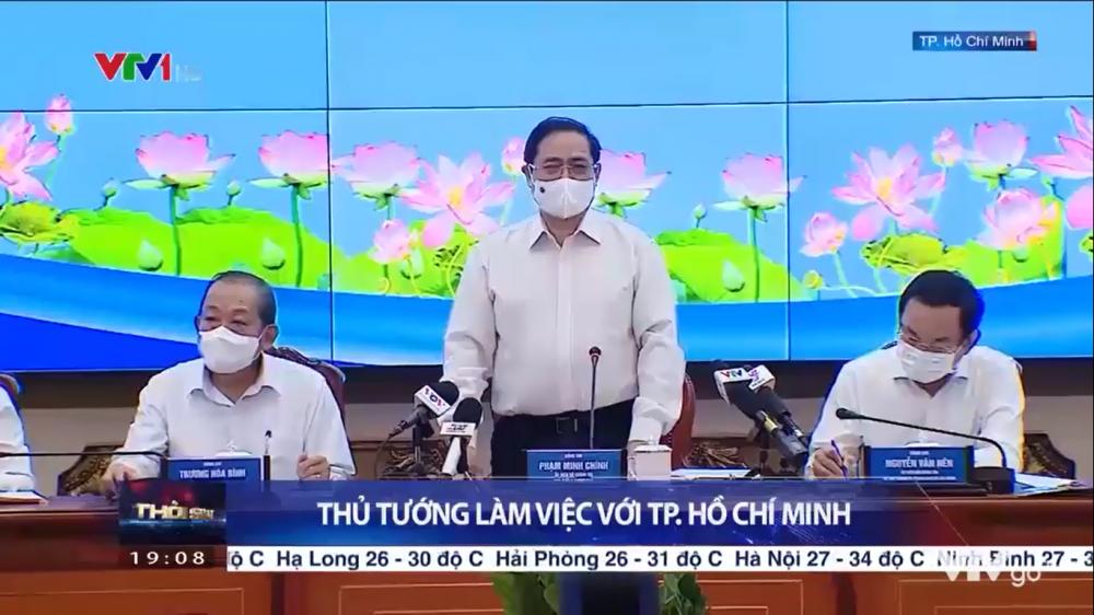 Thủ tướng làm việc với TP. Hồ Chí Minh
