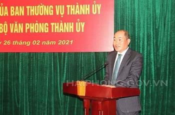 Chánh văn phòng Thành ủy Hải Phòng làm Thư ký Phó Thủ tướng Lê Văn Thành