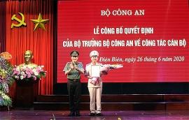 dieu dong bo nhiem lanh dao cong an tphcm long an an giang va dien bien