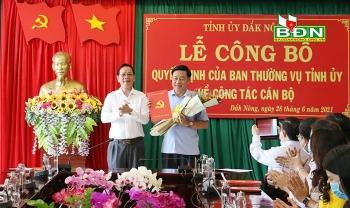 Loạt nhân sự, lãnh đạo mới được bổ nhiệm tại Cà Mau, Đắk Nông