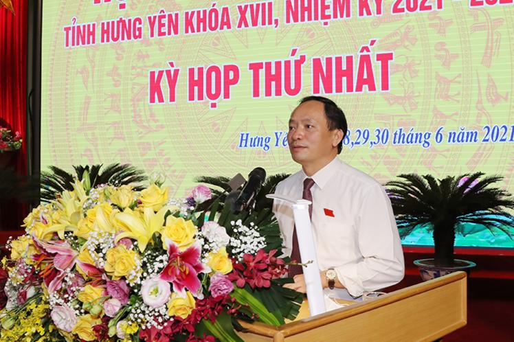Ông Trần Quốc Văn tái đắc cử Chủ tịch UBND tỉnh Hưng Yên