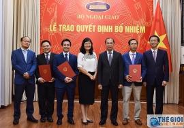 Bộ Ngoại giao, Bộ Quốc phòng bổ nhiệm lãnh đạo mới