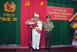 Bộ Công an bổ nhiệm Phó Giám đốc Công an tỉnh Bến Tre