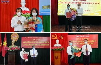 Bổ nhiệm nhân sự lãnh đạo mới Hải Phòng, Lạng Sơn và Quảng Ngãi