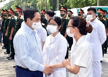 Thủ tướng Phạm Minh Chính gửi thư động viên các lực lượng tuyến đầu phòng, chống dịch COVID-19