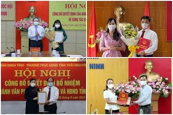 Bổ nhiệm nhân sự, lãnh đạo mới tại Quảng Ninh, Thái Nguyên
