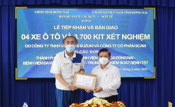 Suzuki trao tặng 4 xe thương mại hỗ trợ Đồng Nai phòng dịch