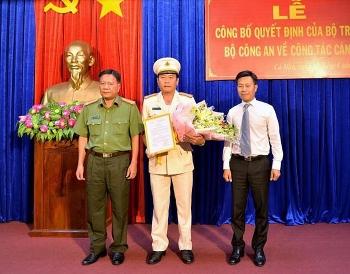 Thượng tá Hồ Việt Triều giữ chức Phó Giám đốc Công an tỉnh Cà Mau
