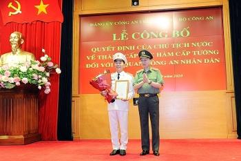 Thứ trưởng Bộ Công an Trần Quốc Tỏ được thăng quân hàm Trung tướng