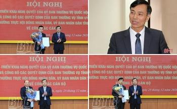 Tin tức bổ nhiệm lãnh đạo mới Hà Tĩnh, Thái Bình