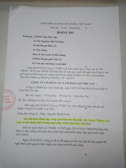 phu tho i ach thao do cac cong trinh xay dung trai phep tai den hung