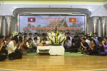 Ra mắt Ban liên lạc lưu học sinh Lào tại Vĩnh Phúc nhân dịp Tết cổ truyền Bunpimay