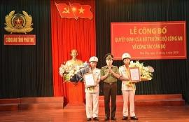 Hai tân Phó Giám đốc Công an tỉnh Phú Thọ là ai?