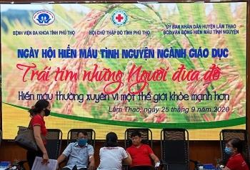 """Phú Thọ: Ngày hội hiến máu tình nguyện """"Trái tim những người đưa đò"""" Ngành giáo dục huyện LâmThao"""