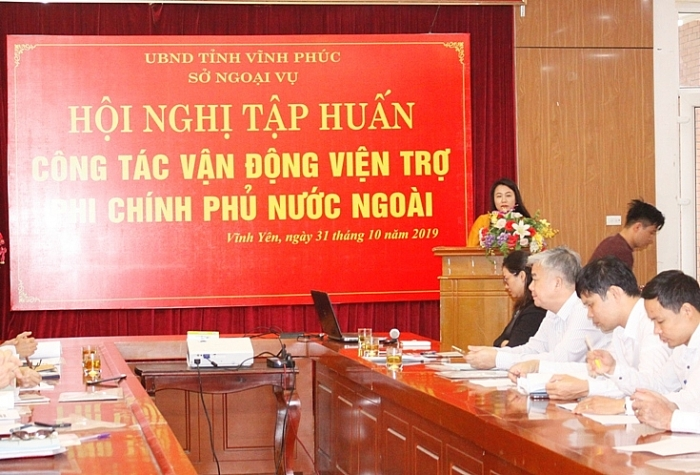 vinh phuc tap huan cong tac van dong vien tro phi chinh phu nuoc ngoai cho gan 100 hoc vien