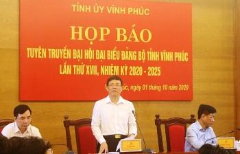 Đại hội Đảng bộ tỉnh Vĩnh Phúc nhiệm kỳ 2020 – 2025 sẽ diễn ra từ ngày 13/10 - 15/10/2020