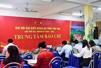 Hơn 60 phóng viên tác nghiệp tại Đại hội Đảng bộ tỉnh Phú Thọ nhiệm kỳ 2020 - 2025