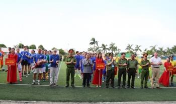 Giao hữu bóng đá quốc tế - Thắt chặt tình đoàn kết giữa Bộ Công an Việt Nam và các cơ quan đại diện nước ngoài