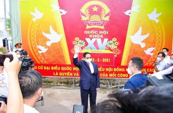 Thủ tướng Phạm Minh Chính thực hiện quyền bầu cử tại Cần Thơ