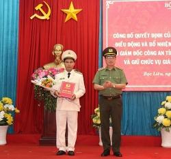 pho giam doc cong an binh thuan ve lam giam doc cong an tinh bac lieu