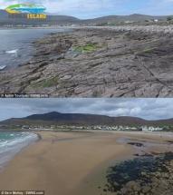 Bãi biển Ireland biến mất 30 năm trước vừa tái xuất hiện chỉ sau một đêm