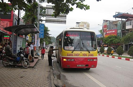 danh sach lo trinh cac tuyen xe bus tai thai nguyen 2019